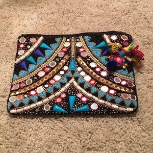 Super Cute Boho Clutch purse or makeup bag New WOT